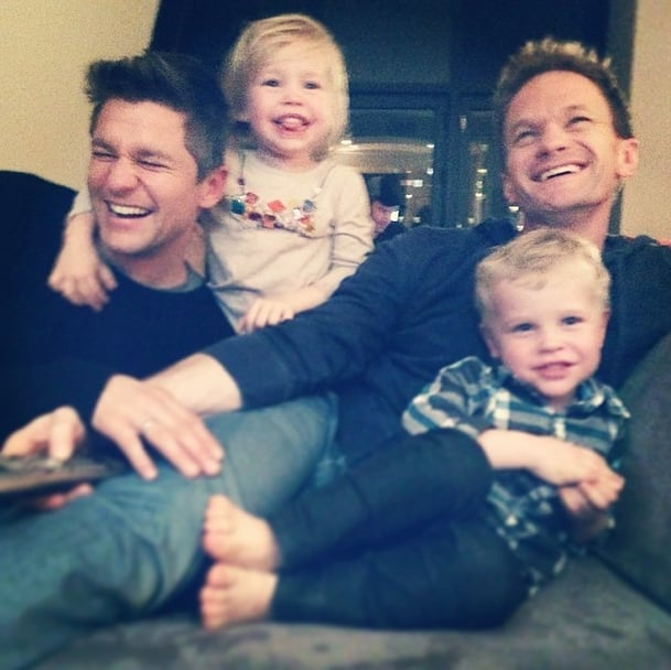 Neil Patrick Harris and David Burtka With Harper and Gideon