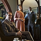 Steve Buscemi as Nucky Thompson, Natalie Wachen as Lenore and Michael Kenneth Willliams as Chalky White on Boardwalk Empire.  Photo courtesy of HBO