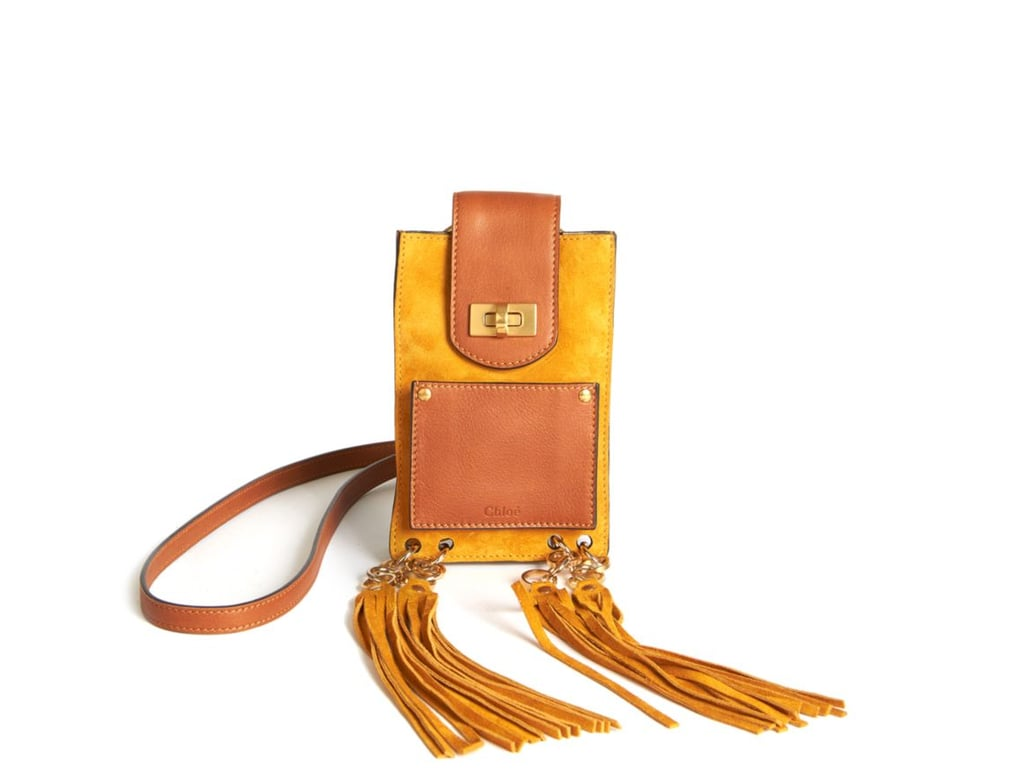 Chloé Jane Mini Tassled Suede and Leather Bracelet Crossbody Bag ($990)