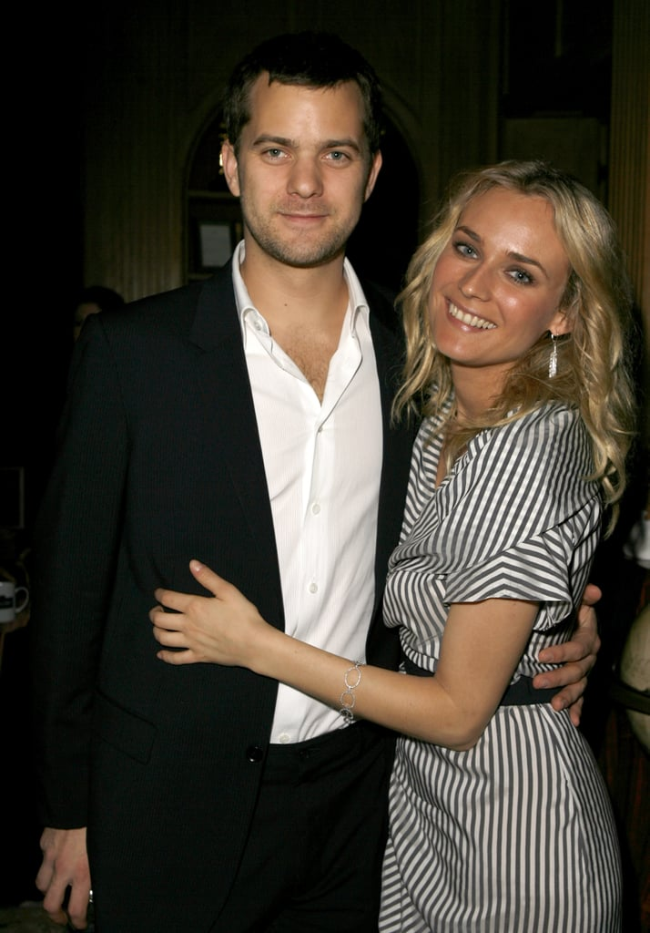 Diane Kruger held onto Joshua Jackson during a pre-Oscar party in LA in February 2007.