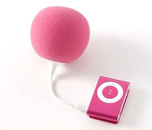 Photos of the Balloon iPod Speaker