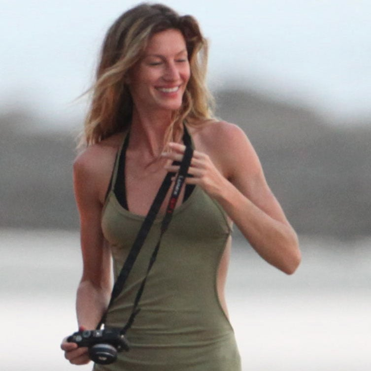 Gisele Bundchen took photos on vacation.