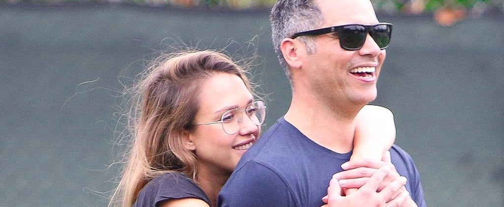 Jessica Alba and Cash Warren Sneak In a Bit of PDA Before Becoming Parents of 3