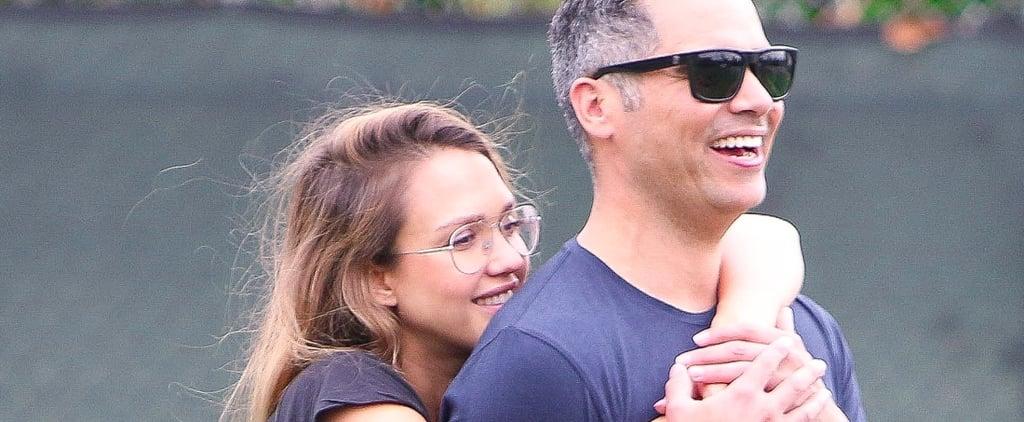 Jessica Alba and Cash Warren Hugging September 2017