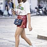 Valentino bag at Milan Fashion Week Spring 2017