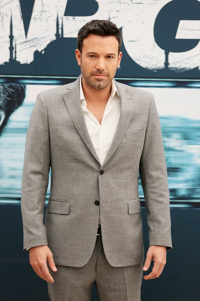 Ben Affleck posed for photos while promoting Argo in Rome.