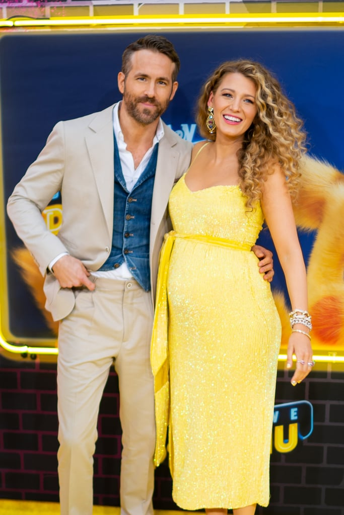 Blake Lively and Ryan Reynolds are about to be parents again! On Thursday, the 31-year-old actress hit the red carpet to support her hubby at the premiere of his new film, Pokémon Detective Pikachu, in NYC, and showed off her growing belly in a curve-hugging yellow dress. The couple tied the knot in 2012 and welcomed daughter James two years later. In September 2016, Blake gave birth to their second daughter, Inez. We last saw both little ones when Ryan was honored with a star on the Hollywood Walk of Fame that same year. Congrats to Ryan and Blake on their growing family!      Related:                                                                                                           16 Things You Never Knew About Ryan Reynolds and Blake Lively's Relationship