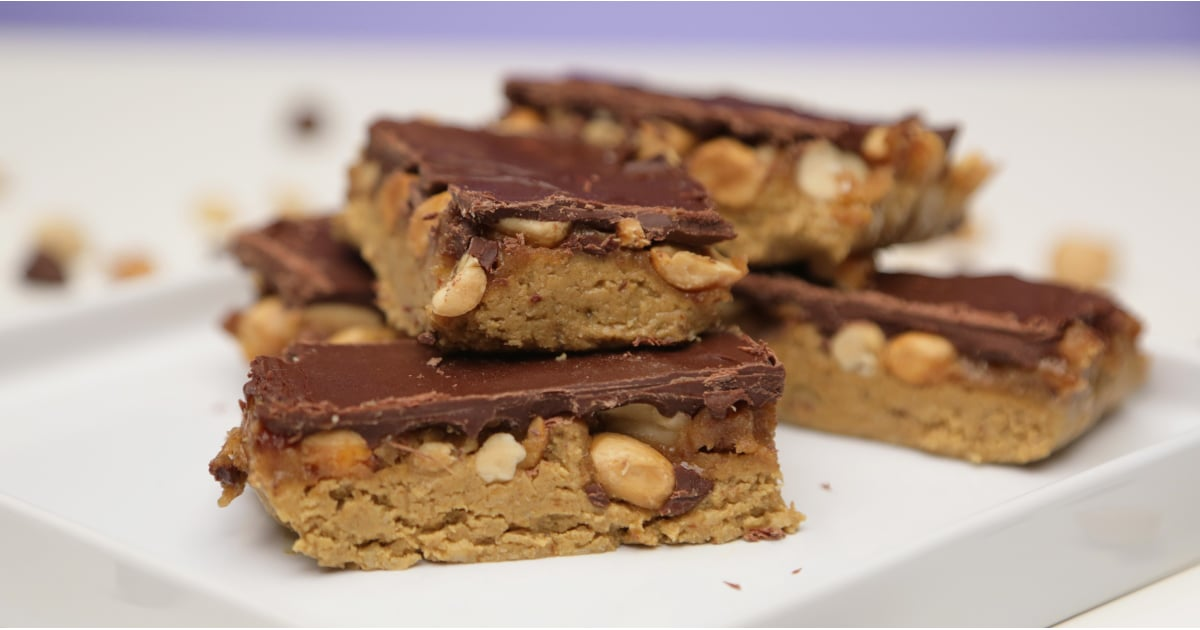 Raw vegan snickers bar recipe popsugar fitness for Raw food bars uk