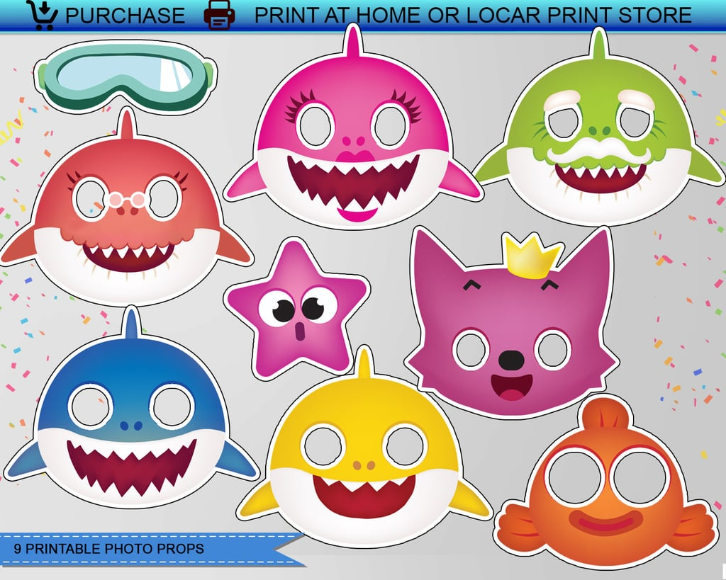 Baby Shark Photo Props Baby Shark Party Supplies Popsugar Family