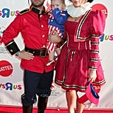 Jason Priestley and His Family as Uncle Sam and Historical Figures