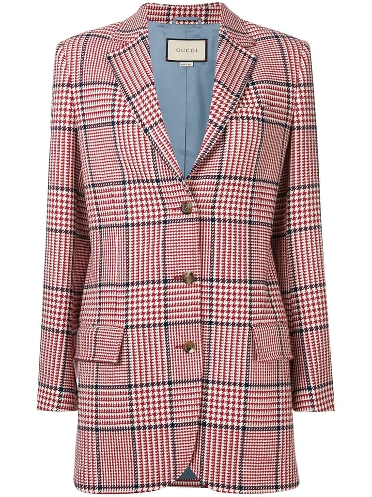 Gucci Houndstooth Check Blazer