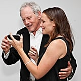 Jennifer Garner held up her iPhone for Victor Garber to see.