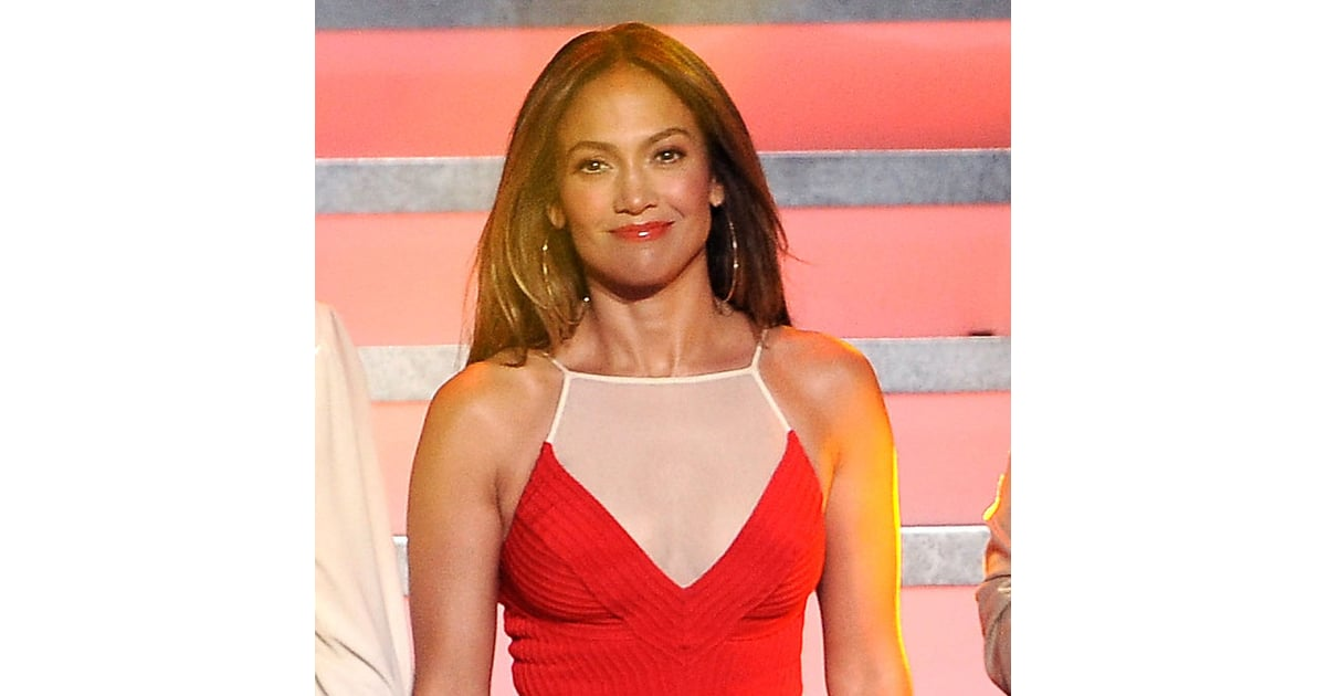 95acd07ca9b Jennifer Lopez in a Red Dress at American idol Pictures | POPSUGAR ...