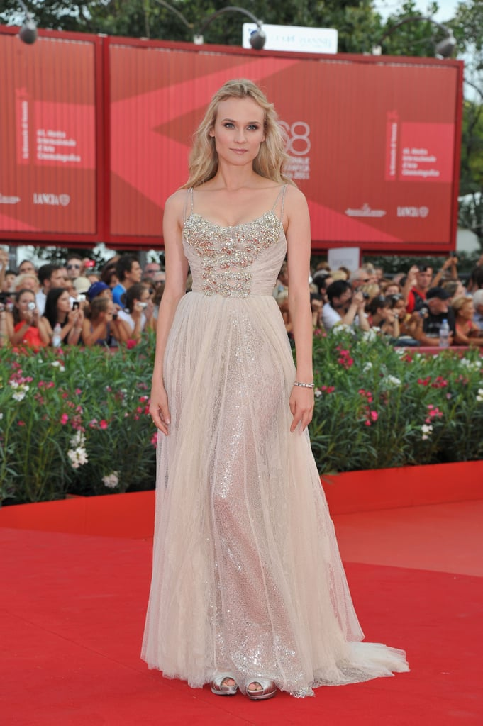 Photos of Diane Kruger in Elie Saab at the Venice Film Festival