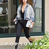 Selena Gomez Wearing Free People Floral Denim Jacket