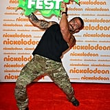 That's green, alright! Commando Steve got into the spirit of things on the red carpet before the event.