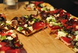 Beet, Caramelized Onions & Goat Cheese Pizza