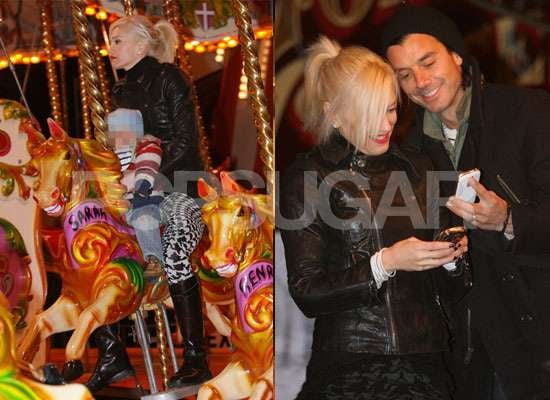 Photos of Gwen Stefani and Gavin Rossdale With Kingston and Zuma at Winter Wonderland in London's Hyde Park