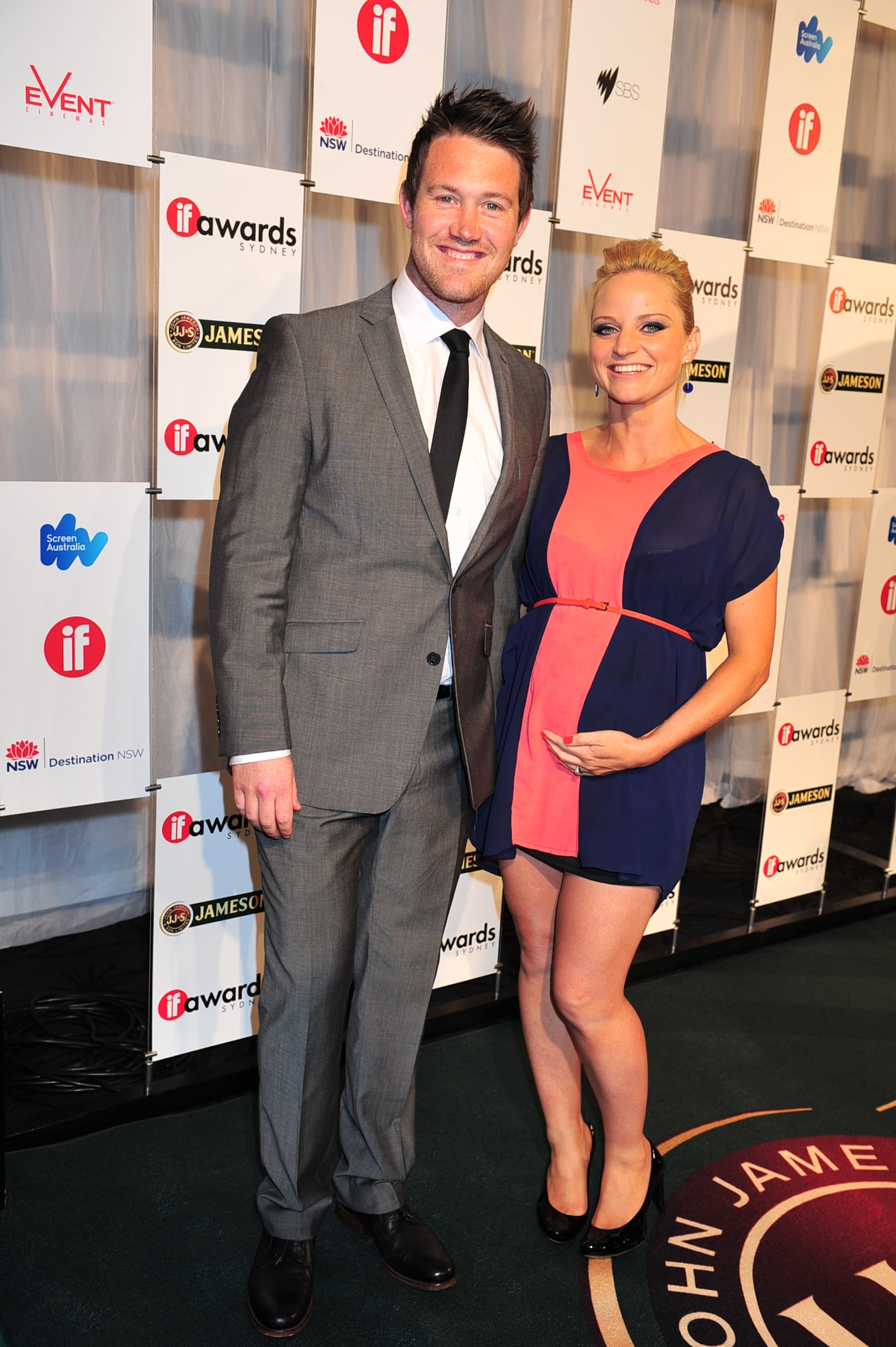 Eddie Perfect and Lucy Cochrane