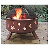 Stars & Moon Big Sky Steel Fire Pit Georgia Clay