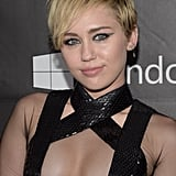 Miley Cyrus at the 2014 amfAR Inspiration Gala in October 2014