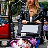Jessica Alba pushed Haven Warren's stroller in NYC.