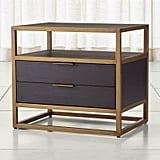 Madeline: Oxford Black 2-Drawer Nightstand