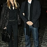 Rachel Zoe and Roger Berman both wore black to a Paris Fashion Week show.