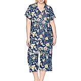 Karen Neuburger Women's Short-Sleeve Floral Girlfriend Crop Pajama Set