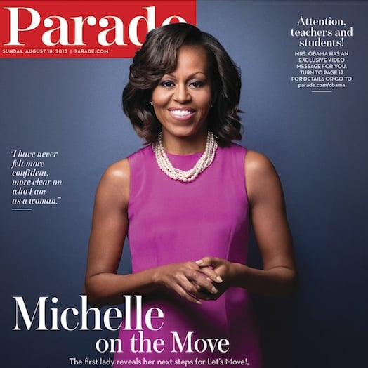 Michelle Obama Growing Out Bangs