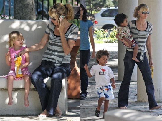 Heidi Is Barefoot in the Park with All Her Kiddies