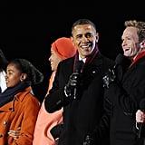 The president really enjoyed himself.