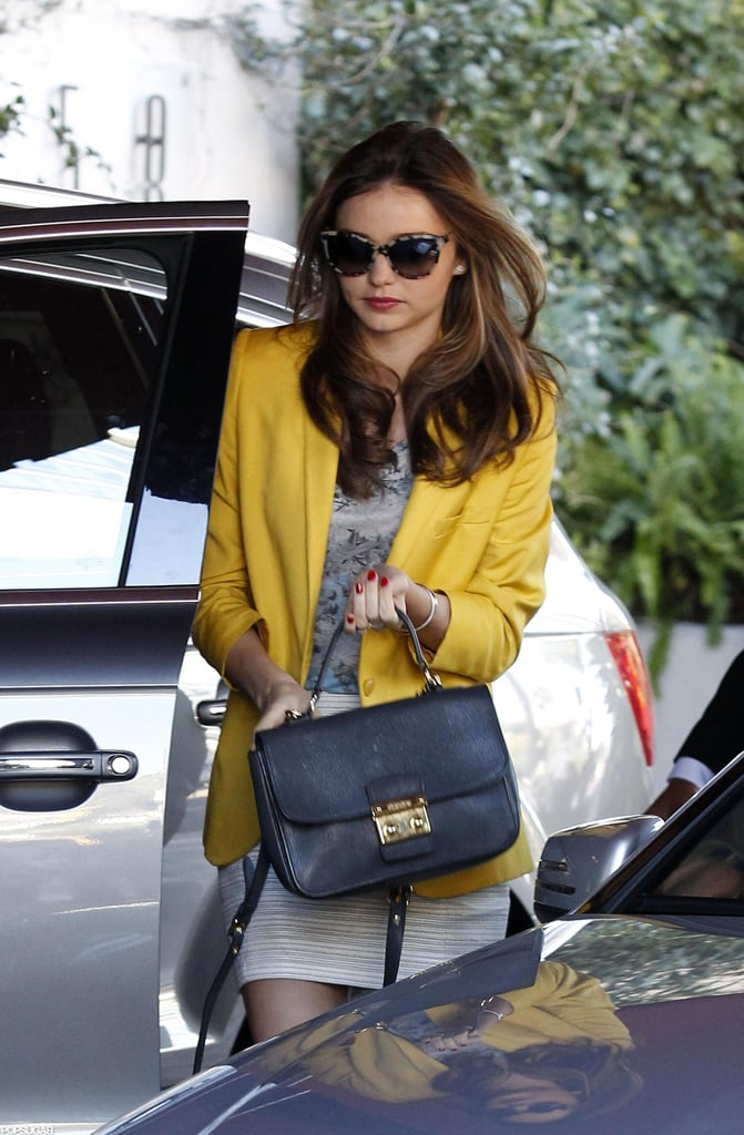 Miranda Kerr arrived at the Sunset Tower Hotel.