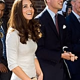Prince William and Kate Middleton were all smiles in London.