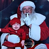 """Adelaide's first time with Santa"" — not such a silent night! Source: Instagram user megjoy86"