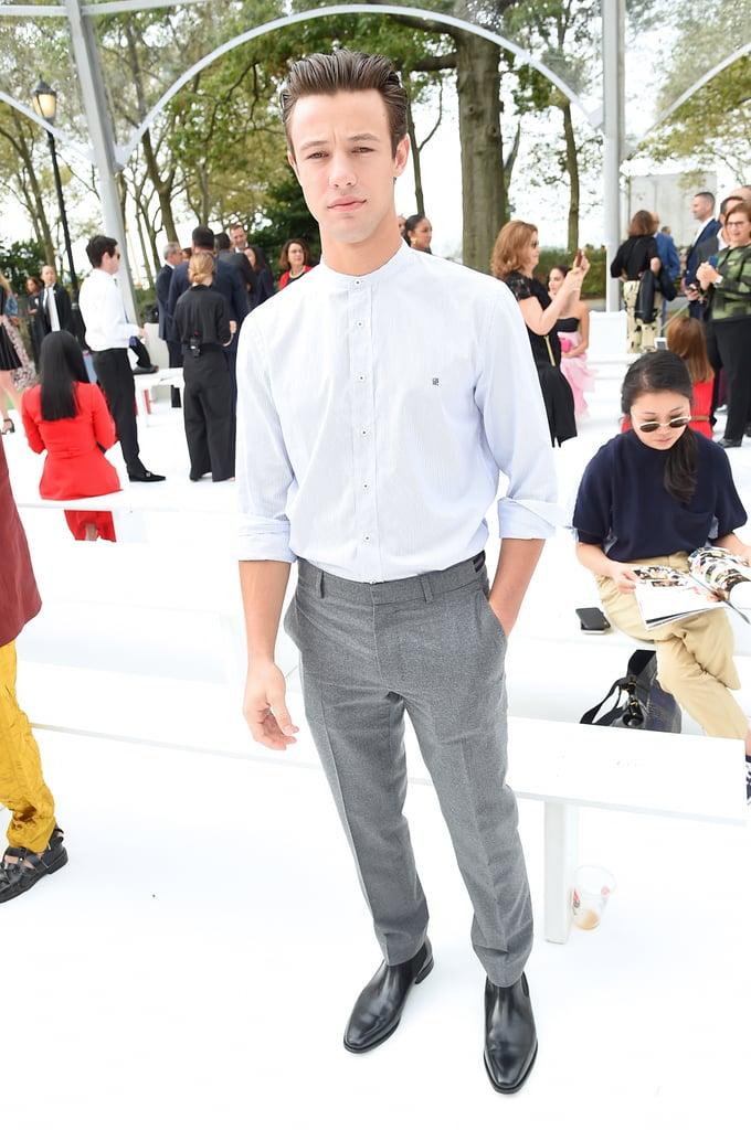 Cameron Dallas at the Carolina Herrera New York Fashion Week Show