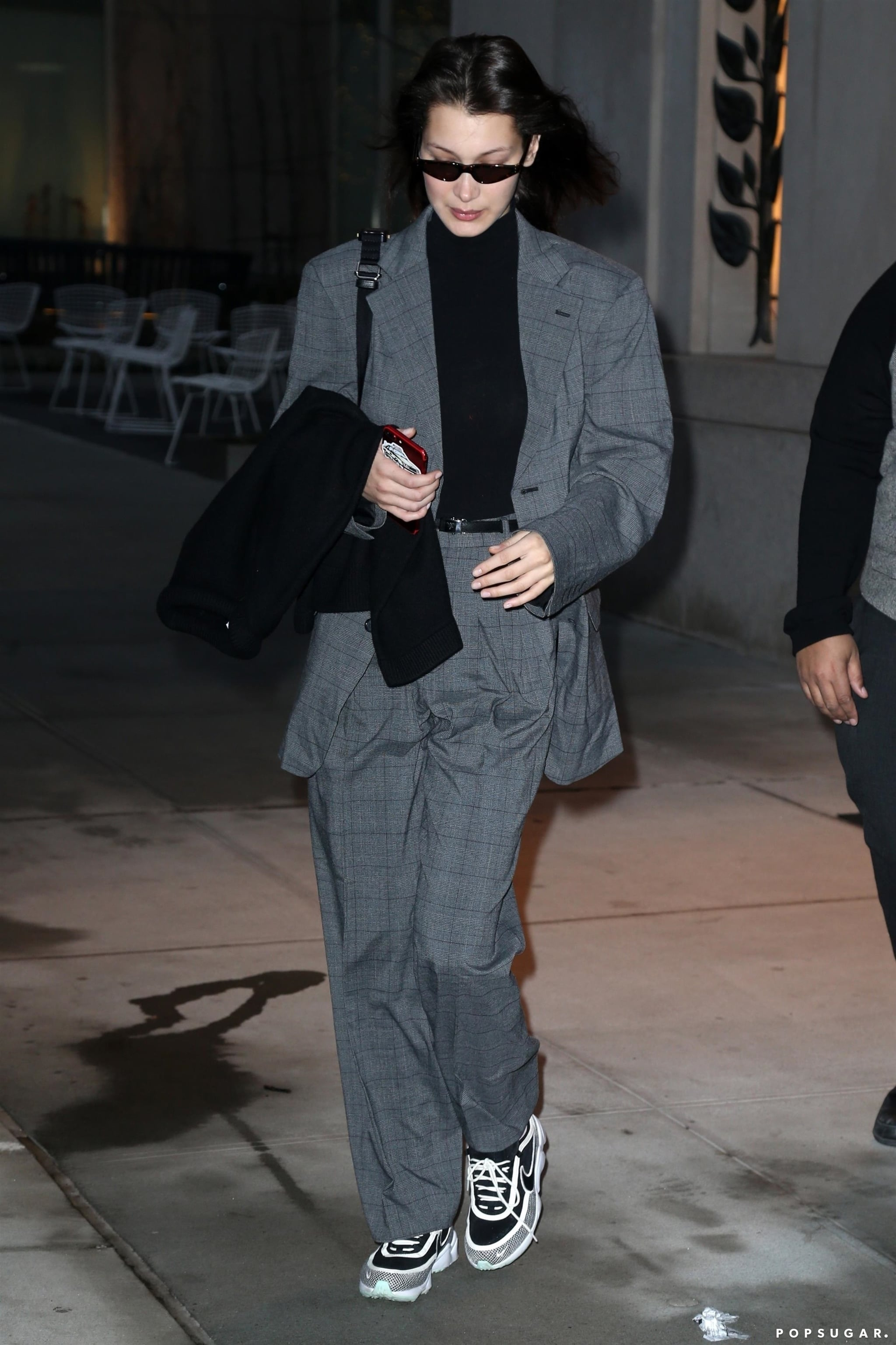 Bella Hadid Wearing a Suit With Nike