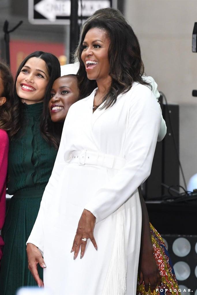 Michelle Obama White Dress October 2018
