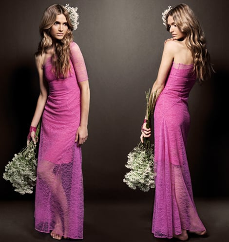 Pink Lace Wedding Dress