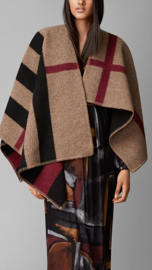 Burberry Check Wool and Cashmere Blanket Poncho ($1,395 ...