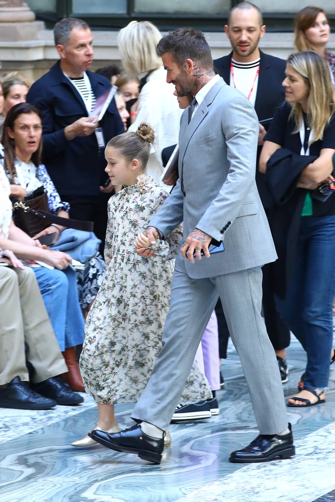 Beckham Family at Victoria Beckham Spring 2020 Fashion Show