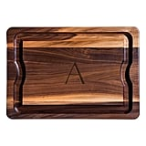 JK Adams Monogrammed Walnut BBQ Serving Board