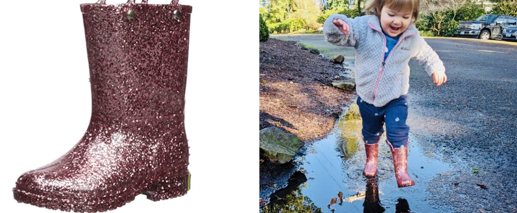 Cute Glitter Rain Boots For Toddlers