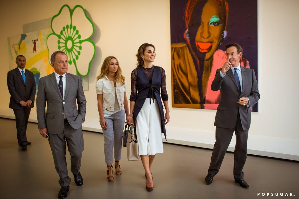 Queen Rania's Style in Paris