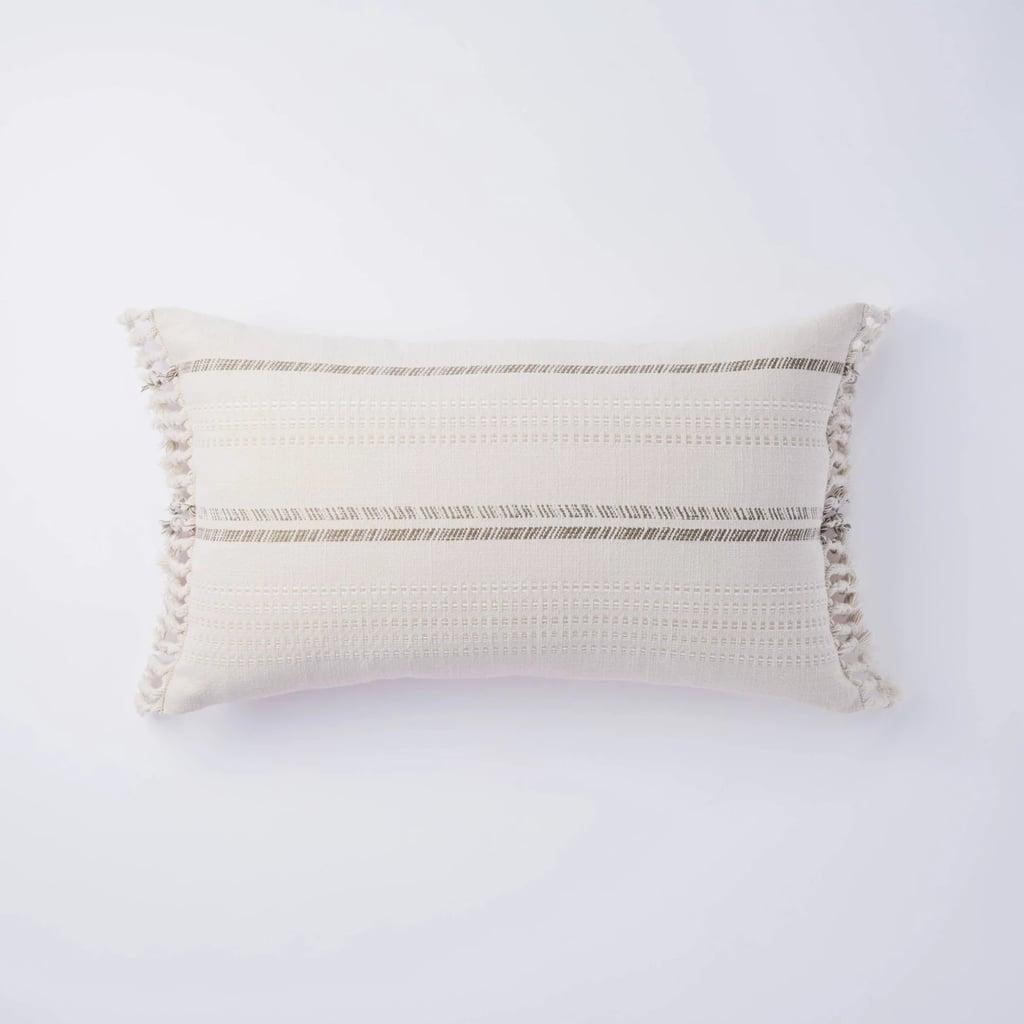 Lumbar Yarn Dye Stripe Pillow
