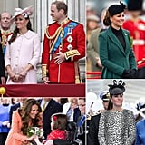 In early June, Kate Middleton made her final prebaby public appearance at the Trooping the Colour parade in London, wrapping up several months of stylish pregnant appearances. Throughout the year, she's stepped out for official visits, weddings, royal events, and a tour of a Harry Potter set in London. Next up: a hospital photo op!