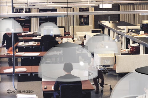 I-Beam Bubble Sound Barrier Blocks Out Office Noise