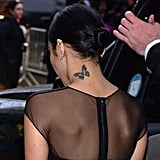 Vanessa Hudgens' Butterfly on Her Neck