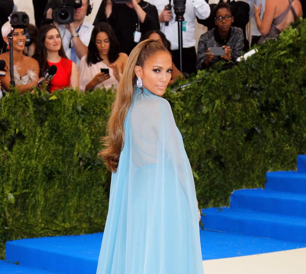 Jennifer Lopez's Long Ponytail in 2017