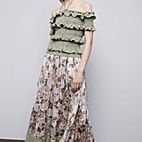 Rebecca Taylor's Off-the-Shoulder Dress ($65) is perfectly ladylike with a spaghetti strap halter, ruffles, and ruching.